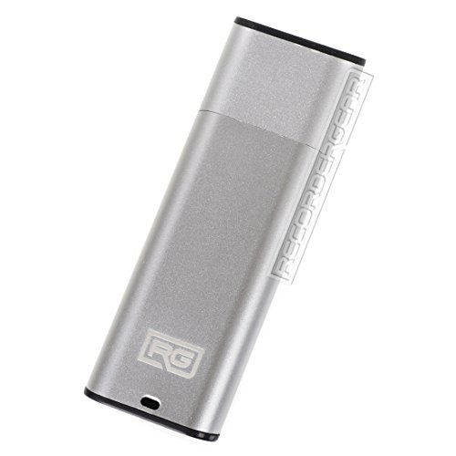 FD10 8GB USB Flash Drive Voice Recorder / Small 192kbps HD Quality Audio Recording Device / 16hr Battery & 90hr Capacity (Silver) (8 Gb Flash Audio)