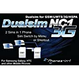NC1 Digital Dualsim Adapter Card 3G for Samsung Galaxy S2 No Cut