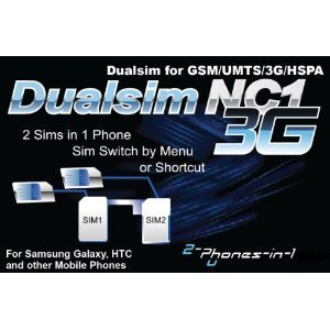 NC1 Digital Dualsim Adapter Card 3G for Samsung Galaxy S2 No Cut by 2phonesin1 (Image #1)