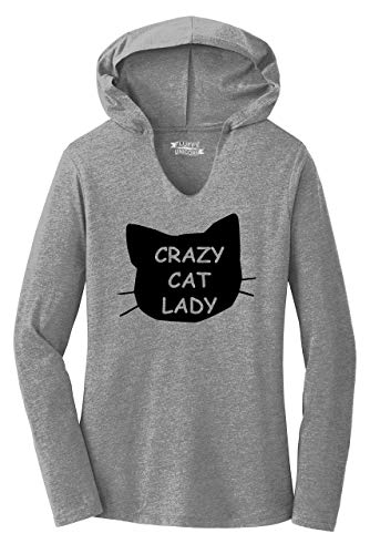 Comical Shirt Ladies Crazy Cat Lady Funny Cat Lover Gift Shirt Hoodie Shirt
