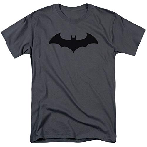 Batman Bat DC Comics T Shirt & Exclusive Stickers (Large) Charcoal -