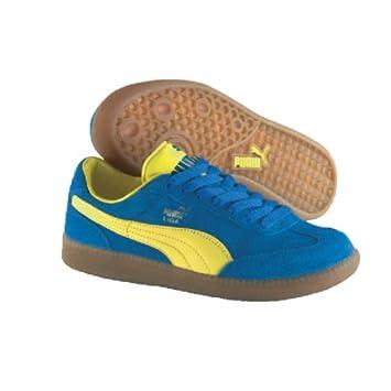 Puma Schuh Kinder Liga, Größe 28, blaugelb: