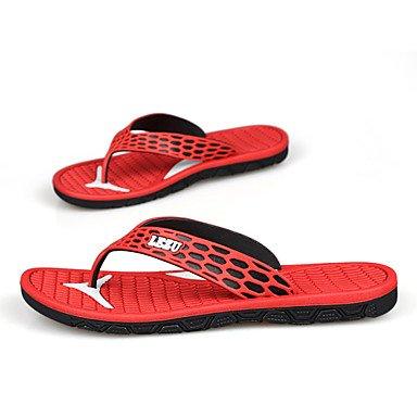 Sandalias de verano zapatos de hombre casual sandalias sintéticas exteriores / Azul / Rojo / Azul / Marina Rojo