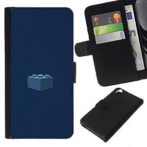 All Phone Most Case / Oferta Especial Cáscara Funda de cuero Monedero Cubierta de proteccion Caso / Wallet Case for HTC Desire 820 // Piece Kids Navy Blue