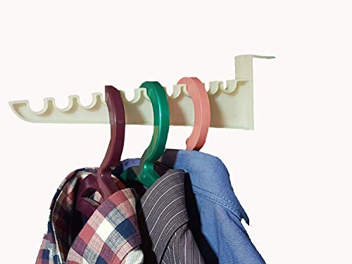 - Andalus 9-inch Over The Door Hook Organizer Rack, Holds 10 Hangers, Durable Construction, Space Saving Design, Easy to Install