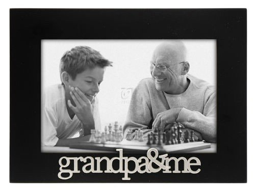 Malden International Designs Grandpa and Me Expressions Picture Frame, 4x6, Black