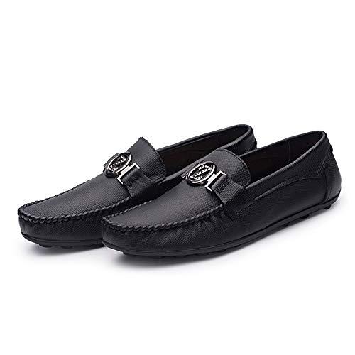 genuinos Moccasin único Zapatos liviano Negro 0cm de Diseño de cuero suave planos hombres gommino de de Tamaño y 23 Zapatos 27 ocasionales los conducción Zapatos de Rojo Moc Negro Zapatos negocios 0cm wxq0Z
