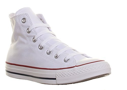 Converse Unisex Chuck Taylor All Star High Top Sneakers Optical White (6.5 B(M) US Women / 4.5 D(M) US Men, Optical White)