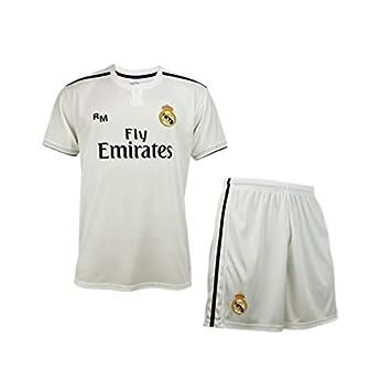 Conjunto Camiseta y Pantalon 1ª Equipación 2018-2019 Real Madrid - Réplica  Oficial Licenciado - 48419fd8ecb