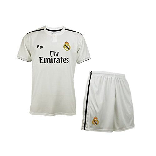 huge selection of 92c77 0a696 Real Madrid KIT 1ª EQ 2018-2019 NIÑO C. Ronaldo T-06: Amazon ...