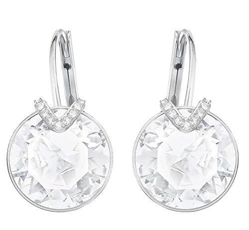 Earrings Bella Pierced Swarovski (Swarovski Crystal Large White Bella V Rhodium-Plated Earrings)