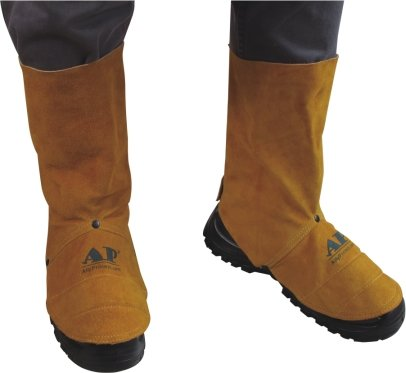 AP-9400 Golden color leather spats/ shoe protector (Spat Footwear)