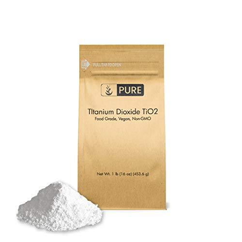 - Titanium Dioxide TiO2 (1 lb.) by Pure Organic Ingredients, Eco-Friendly Packaging, Non-Nano, Food & USP Grade, Vegan, Non-GMO