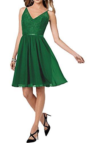 La_mia Braut Damen Traube V-ausschnitt Abendkleider Cocktailkleider Abiballkleider Tanzenkleider mit Traeger Neu Jaeger Gruen pvB2S