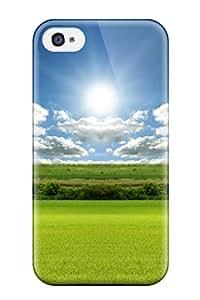 SqrsObE5426RrBik Faddish Bright Green Landscape Case Cover For Iphone 4/4s