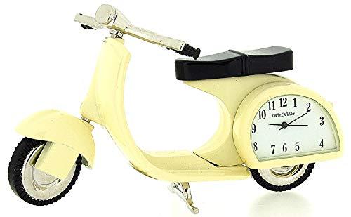 (Miniature Scooter Novelty Cream Tone Classic Vespa - Collectors Clock 9088)