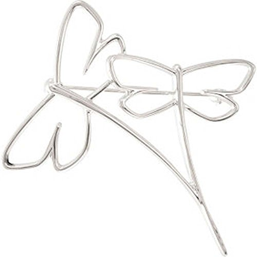 Metal Fashion Dragonfly Brooch in 14K White (14k White Brooch)