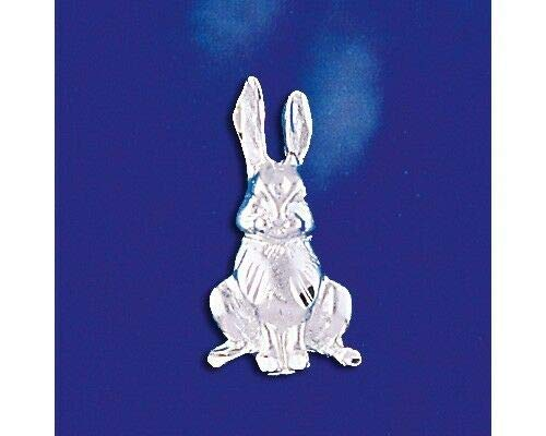 Sterling Silver Bunny Pendant Rabbit Italian Design Easter Charm 925 Italy New Jewelry Making Supply Pendant Bracelet DIY Crafting by Wholesale (Easter Supplies Wholesale)