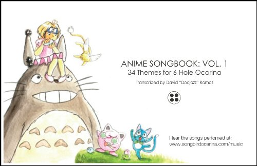 Anime Songbook for 6 Hole Ocarina