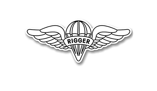 AIRBORNE Wings Car or Truck Window Laptop Decal Sticker White 8X4.0