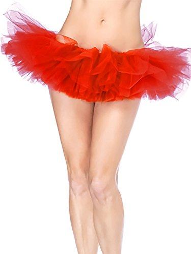 Petticoat Tutu pour Femme ballet jupe HENCY Jupon Rouge de danse mini color bal xHnBqpFpwg
