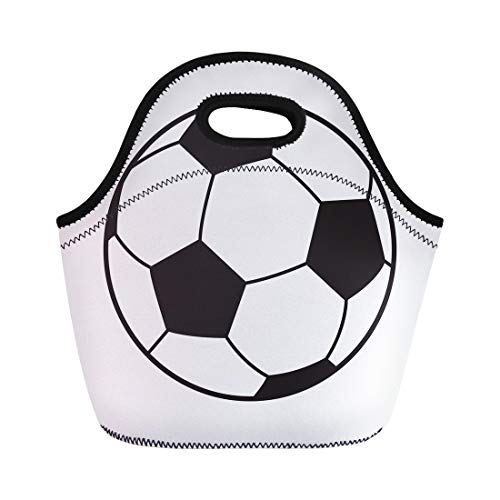 - Semtomn Neoprene Lunch Tote Bag Euro Soccer Ball Football Sports Symbol Championship World Label Reusable Cooler Bags Insulated Thermal Picnic Handbag for Travel,School,Outdoors,Work