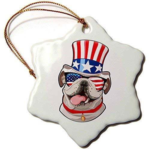 Diuangfoong - Figura Decorativa de Perro Bulldog inglés con ...