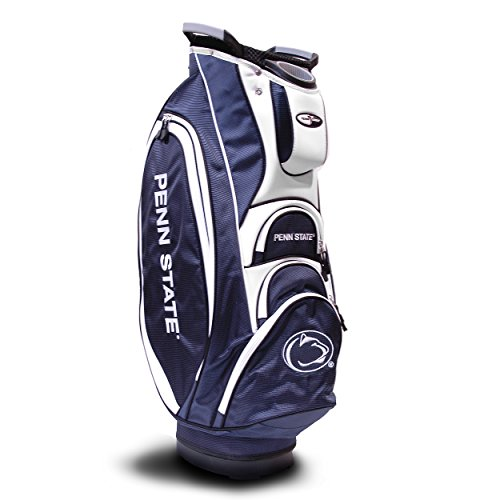 Team Golf NCAA Penn State Nittany Lions Victory Golf Cart Bag, 10-way Top with Integrated Dual Handle & External Putter Well, Cooler Pocket, Padded Strap, Umbrella Holder & Removable Rain - Athletics Penn State