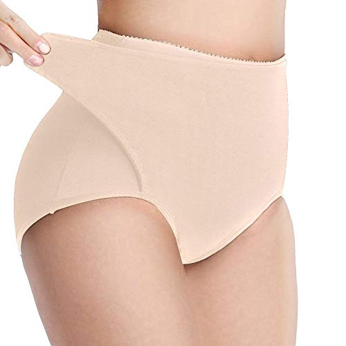 Defitshape Women's High Waist Shapewear Panties Tummy Control Belly Wrap Postpartum Shaper Nude US 12 (Tag2XL) (Best Shapewear For Wedding Gown)