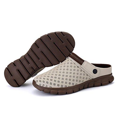 Des dérapant De D'été Mens Respirant Couples Occasionnels Eagsouni Chaussures Pantoufles Mesh Femmes Anti Filet Sport Tissu Beige En Unisexe En Plage Sandales qwaWtpWA