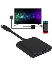 Nintendo Switch HDMI tipo C Hub adaptador, convertidor USB C Hub HDMI 1080P Cable para Nintendo Switch, MacBook Pro 2017, Samsung Galaxy S8 Plus, Google Pixel