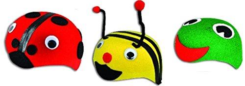 (3) Felt Dress up kids HATS - Bumblebee, Ladybug and (Bumble Bee Child Gloves)