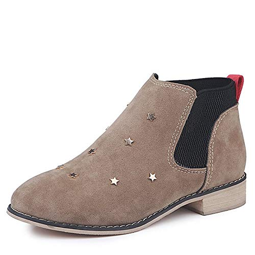 ZHZNVX Damenmode Stiefel PU Herbst Minimalismus Stiefel Low Low Low Heel Round Toe Stiefelies Stiefeletten Schwarz Army Grün Khaki 83f7e5