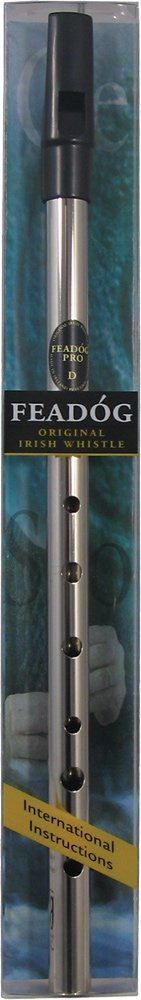 Feadog - Nickel Pro Irish Penny Whistle - Key of D Feadog @ 1to1Music FW17A