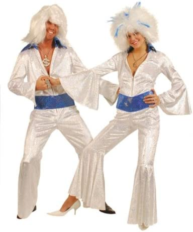 ABBA Silver Sequin Jumpsuit Fancy Dress - Female 12-14 (disfraz ...