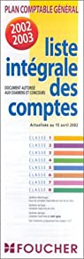 Plan comptable général : Liste intégrale des comptes par Editions Foucher