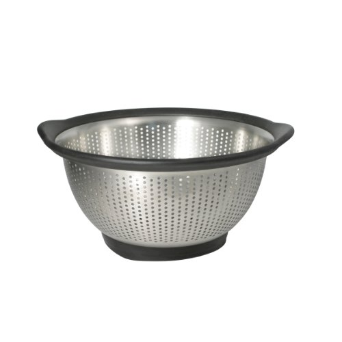 KitchenAid Gourmet 3-Quart Stainless Steel Colander, Black