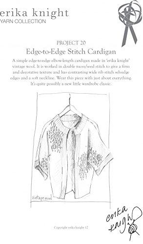 Erika Knight Vintage Wool Knitting Pattern Edge to Edge Stitch Cardigan Aran