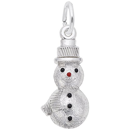 Rembrandt Charms, Snowman.925 Sterling Silver