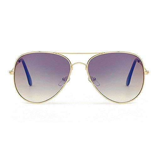 Sunglasses Mirror UV Polarized for Men yellow 400 Lens Purple Women Protection Metal Aviator rwrqBYC