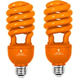 2 Pack BlueX CFL Orange Light Bulb 24W – 100-Watt