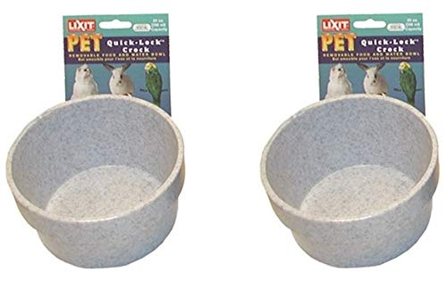 Lixit Corporation BLX0758 Crock for Small Animals, 20-Ounce, Granite(2Pack)