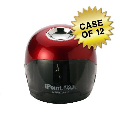 Westcott iPoint Ball Pencil Sharpener, Case of 12 by Westcott