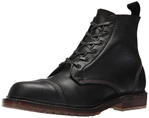 Allen Edmonds Men's Caen Cap Toe Blucher Fashion Boot, Black Grain, 11 D - Cap Toe Blucher