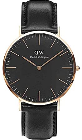d3c713e31b52 Image Unavailable. Image not available for. Color  Daniel Wellington  Classic Black Sheffield 40mm