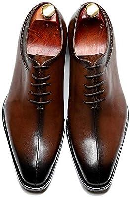 SHENMINJ Tamaño Cuadrado del Dedo del pie Zapatos de Vestir de los ...
