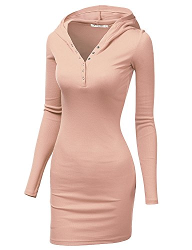 Doublju Womens Lightweight Cotton 3/4 Sleeve Dress INDIPINK,XS (80s Outfits For Sale)