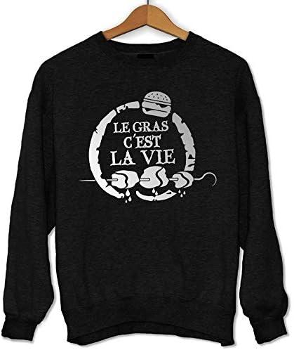 Closset Sweat /à Capuche Le Gras Cest la Vie pour Les Fans de Karadoc Hoodie dr/ôle et Fun imprim/é en France Cadeau id/éal S/érie TV Citation Humoristique Kaamelott