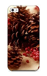 Cute Appearance Cover/tpu TnrqsKr6351ndldo Holiday Christmas Case For Iphone 5c