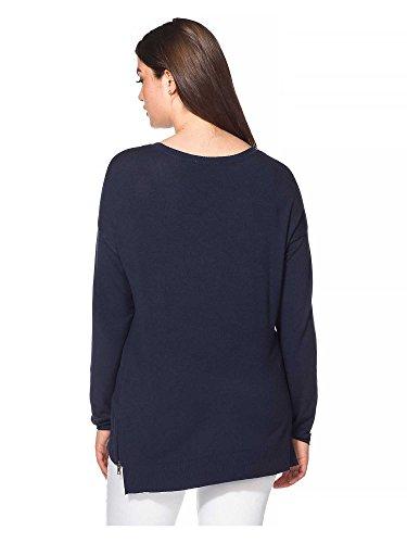 sheego Casual Jersey tallas grandes Mujer azul marino